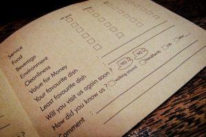 Formulario feedback restaurante