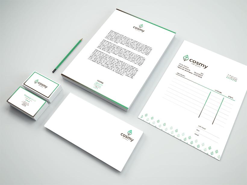 Aplicaciones de identidad corporativa en papelería