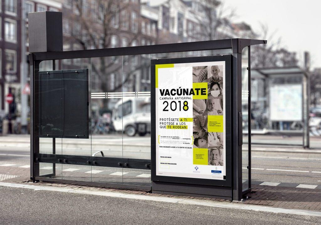 Poster vacunación antigripal 2018