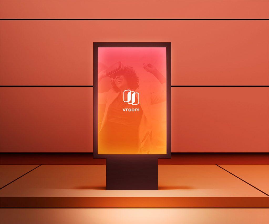 Diseño para mupi de marquesina. Publicidad de aplicación móvil