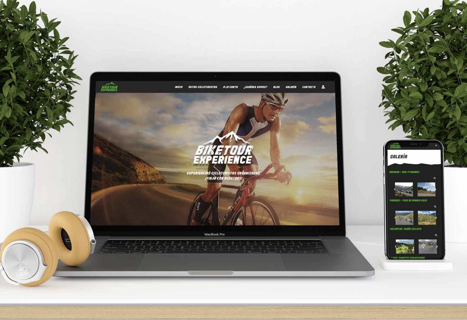 Imagen de la web corporativa de Bike tour experience