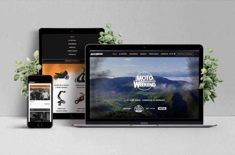 Imagen del la web corporativa de Motoweekend gijon