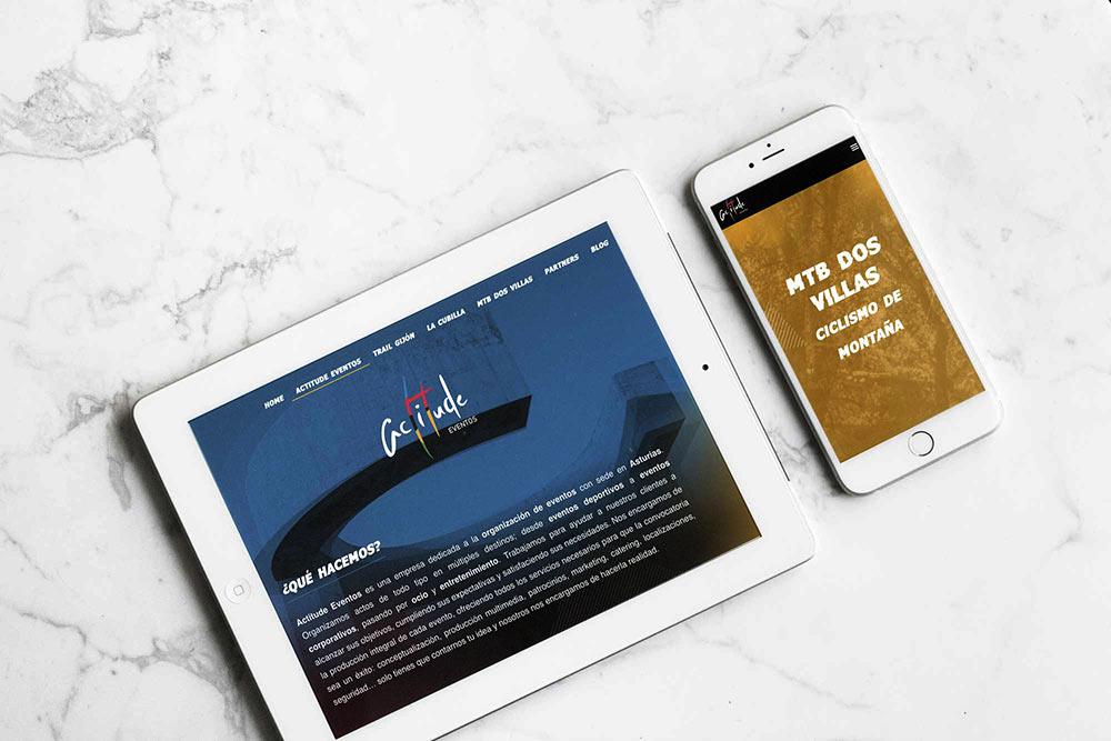 Imagen de la web corporativa Actitud de Evento