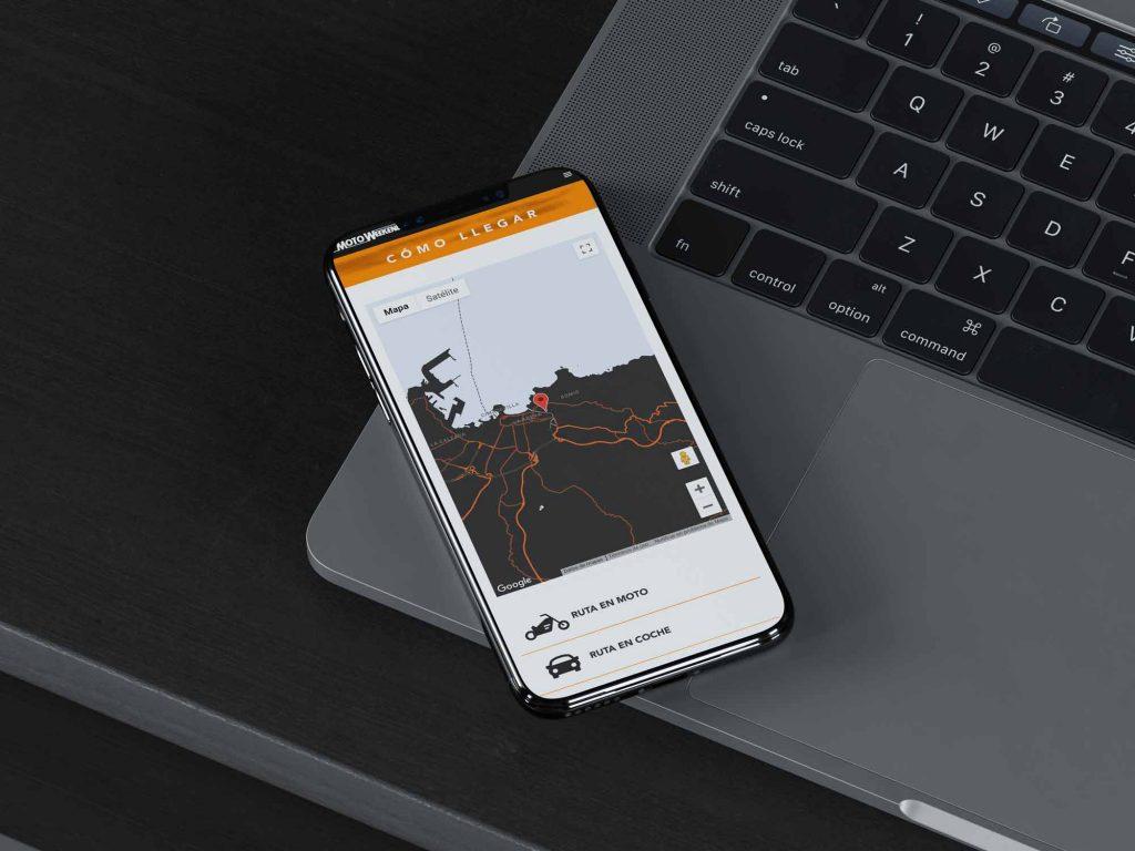 Imagen de la web corporativa de Motoweekend Gijon