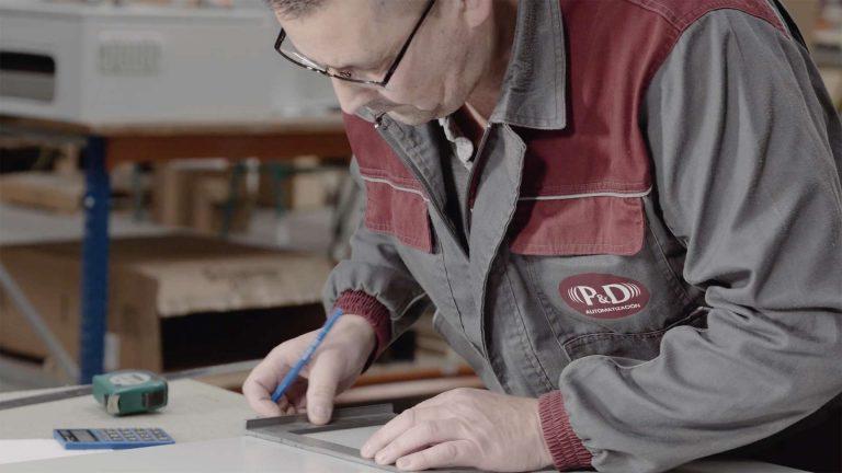 Imagen del video corporativo de la fabrica P&D