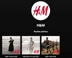 Ejemplo de H&M de como anunciarse